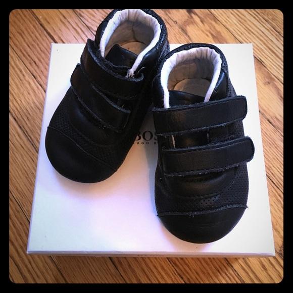 080c47475d54 Hugo Boss Other - Hugo Boss black pre walker baby shoes size 19